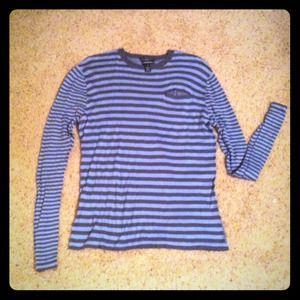 Club Monaco Sweaters - Blue & Gray Striped Sweater