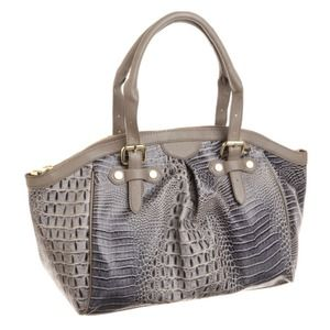 Handbags - Steve Madden crocodile print bag GREY 🆕