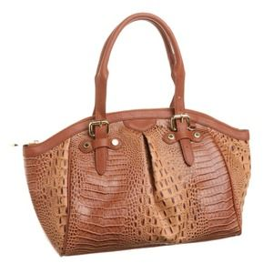 Handbags - Steve Madden crocodile print bag COGNAC 🆕