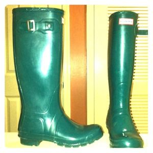 Lagoon Green Hunter rain boots