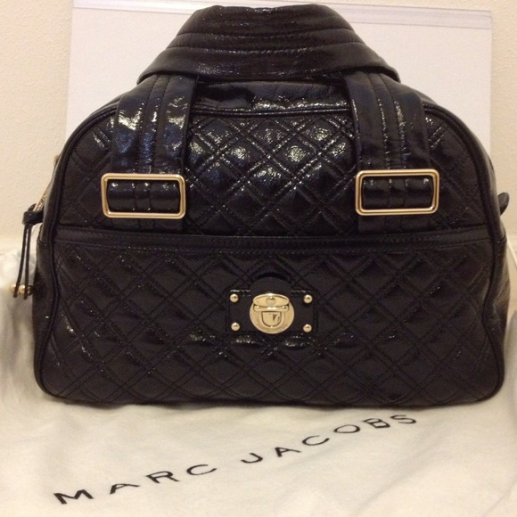 Marc Jacobs Handbags - Marc Jacobs Quilted Patent Ursula Bowler (Large)