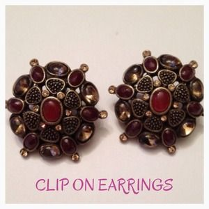 💜2 for $10💜 Clip-on earrings by Monet-NWT