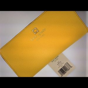 NWT Kate Spade Stacy GrantPark Wallet Lemon Yellow
