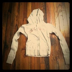 Abercrombie & Fitch Zipped Hoodie - Cream, S
