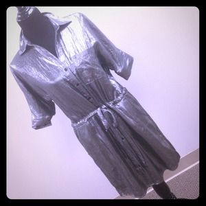 Pewter shirt dress