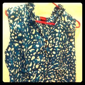 Teal & blue Merona brand sleeveless blouse