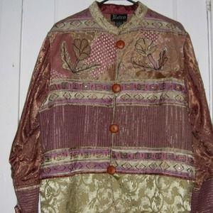 Beautiful Embellished Beading Satiny Blazer