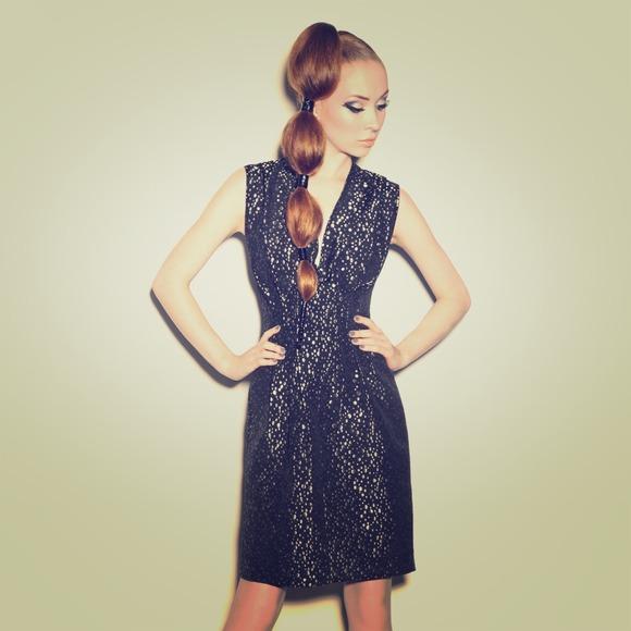 Kelly Lynne Dresses & Skirts - Metallic Dots Dress