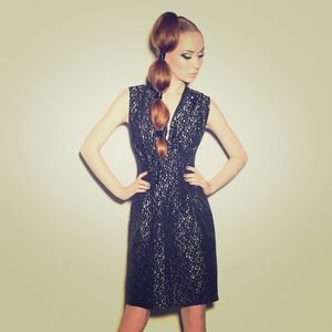 Metallic Dots Dress