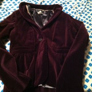 Jcrew Purple velvet jacket