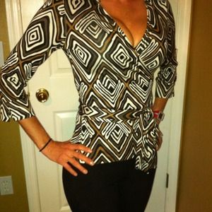 DVF wrap shirt
