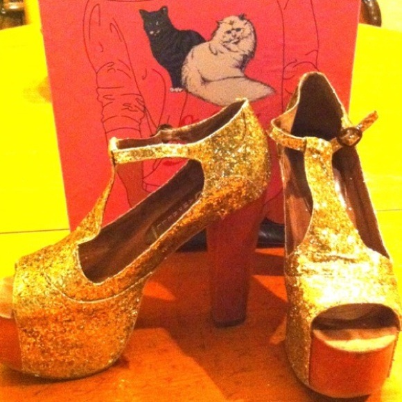 Jeffrey Campbell Shoes - 🔴SOLD Gold Glitter Jeffrey Campbell Heels! 4
