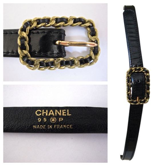 62430ad22 CHANEL Accessories - Authentic CHANEL patent leather belt chain buckle