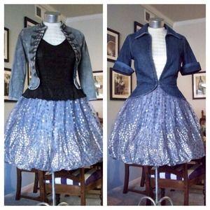 Vintage silver gold glitter bubble skirt XS / S