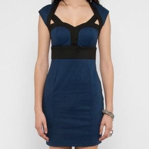 Nasty Gal body con sweetheart dress