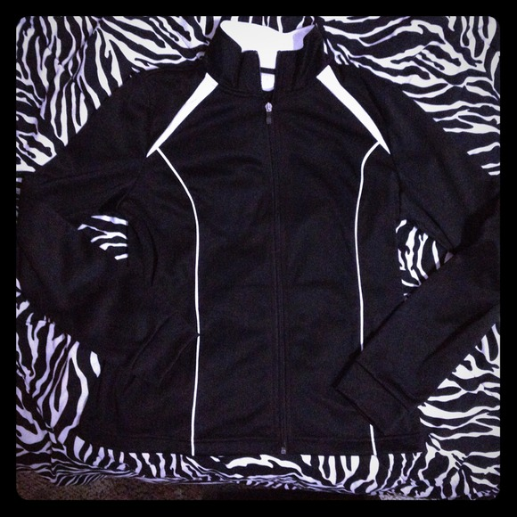 danskin Outerwear - Black with white striping runners jacket.