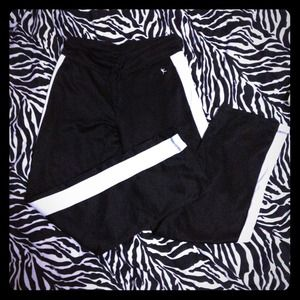 Black with white striping runners pants