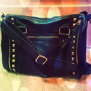 ⛔REDUCED⛔Black Studded Leather Bag