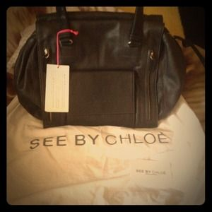 See by Chloe Two Tone Leather Tote Handbag