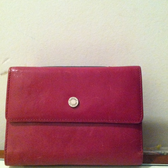 Monsac Bags Authentic Red Trifold Wallet Poshmark
