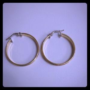 Jewelry - 18k Gold hoop earrings,