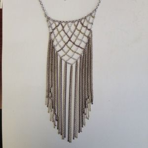 Adelaide metal mesh necklace