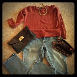 ☀Burnt orange sweater top☀