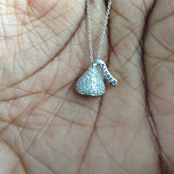 57 off zales jewelry zales hersheys kiss 14k white gold zales hersheys kiss 14k white gold necklace mozeypictures Choice Image