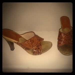 Kors by Michael Kors Wood Heels sz 7