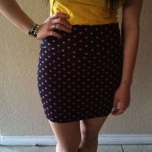 Dresses & Skirts - 💗BUNDLE💗 Cute polka dot skirt & floral skirt!