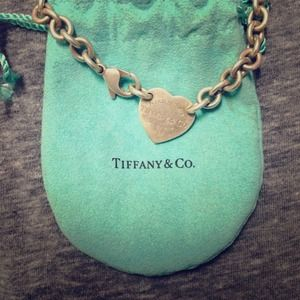 Tiffany's & Co heart tag choker