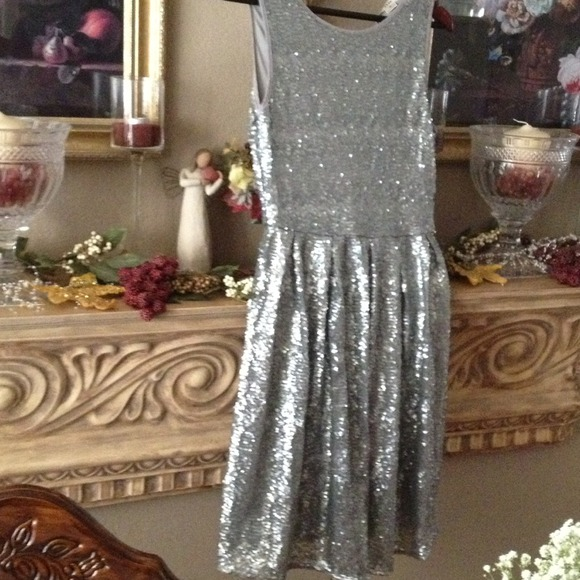 ISSI Dresses & Skirts - Beautiful NWT silver sequin dress! It's A WOW!