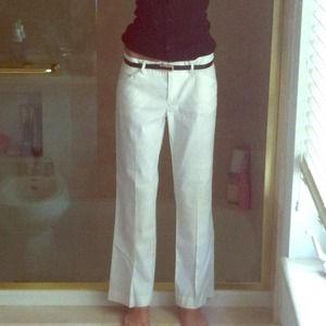 Theory white pants