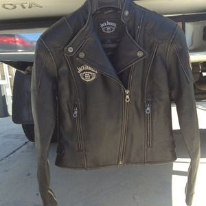 Jack daniel's Moto cycle leather jacket xs for sale