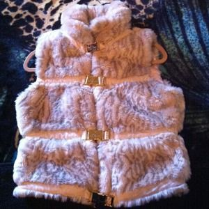 REDUCED!! Beautiful fur baby phat vest size S