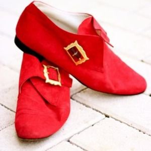 Vintage Saks Red Booties