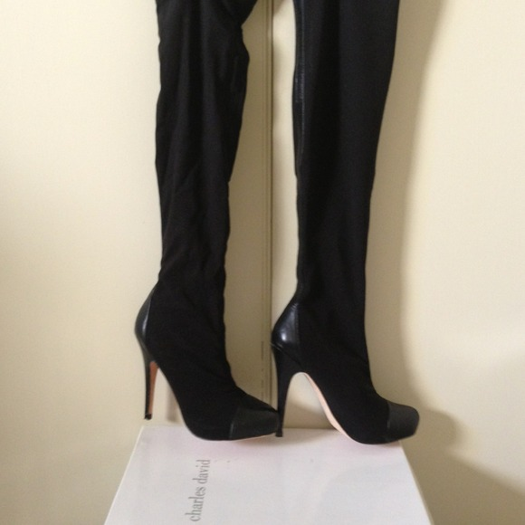 2e776493b90 Charles David Boots - Charles David Pull on Over the knee boots.