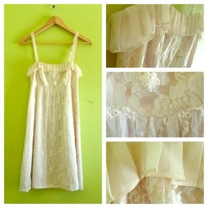 REDUCED Ivory Eyelet Lace Dress 