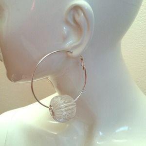 Silver hoop earrings!