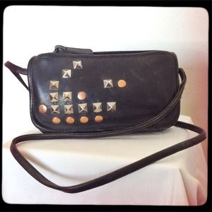 vintage Coach hand studded cross body purse