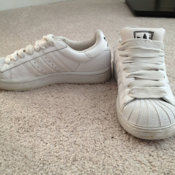promo code 0dc01 96972 Adidas Shoes - Vintage Adidas all white shell toe