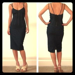 Dolce & Gabanna denim corset dress