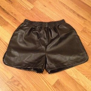 Showhere Other - Brand New: Faux-leather Shorts