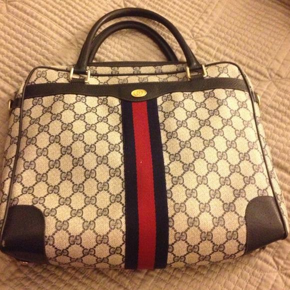 gucci purse. rare 80s vintage gucci purse