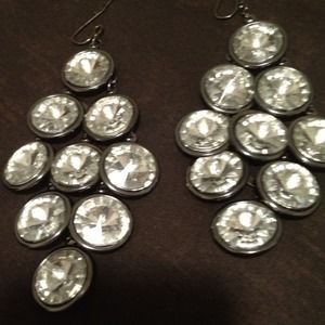 Large crystal chandelier earrings!!
