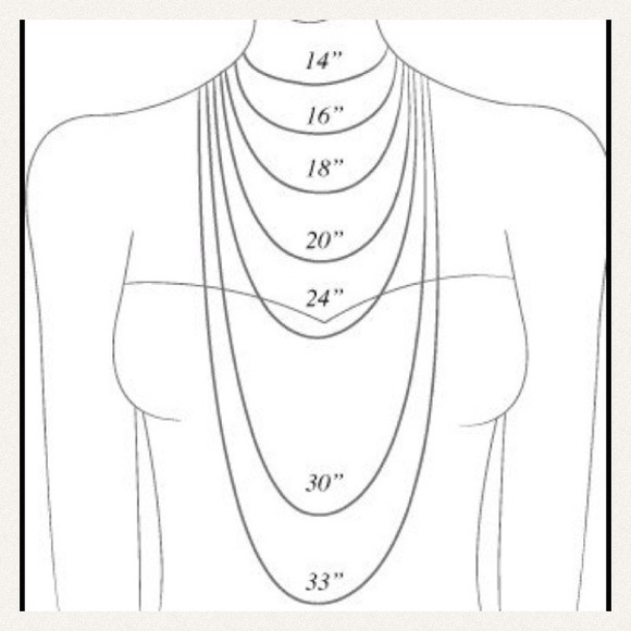 Necklace Length Guide Os From Kenita S Closet On Poshmark