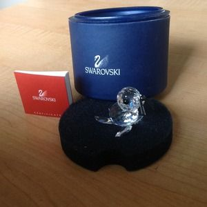 Swarovski crystal baby seal- highly collectible