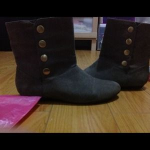 Taupe Suede Ankle Boots