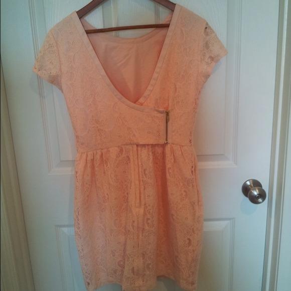 Peach Lace H&m Dressnwt