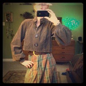 Jackets & Blazers - Brown corduroy crop jacket
